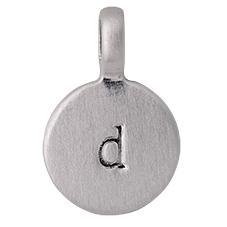 """PILGRIM Pendants """"D"""" sølv vedhæng"""