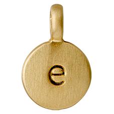 "PILGRIM Pendants ""E"" guld"
