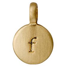 """PILGRIM Pendants """"F"""" guld, vedhæng"""