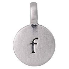 """PILGRIM Pendants """"F"""" sølv vedhæng"""