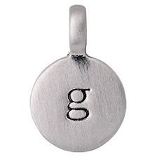 """PILGRIM Pendants """"G"""" sølv vedhæng"""