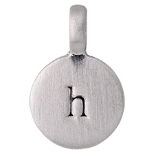 """PILGRIM Pendants """"H"""" sølv vedhæng"""