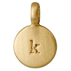 """PILGRIM Pendants """"K"""" guld, vedhæng"""