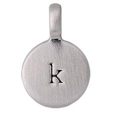 """PILGRIM Pendants """"K"""" sølv vedhæng"""
