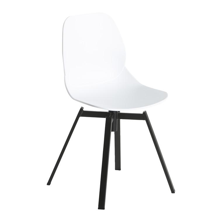RIVA spisebordsstol hvid/sort