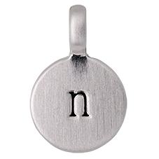 """PILGRIM Pendants """"N"""" sølv, vedhæng"""