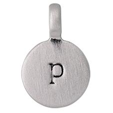 """PILGRIM Pendants """"P"""" sølv vedhæng"""