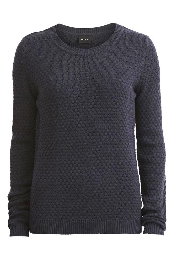 VILA Share pullover grå