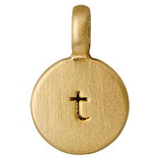 "PILGRIM Pendants ""T"" guld"