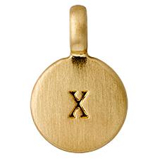 "PILGRIM Pendants ""X"" guld"
