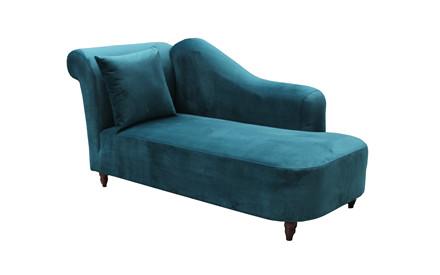 VALENCIA chaise lounge sofa petrol