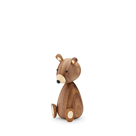 LUCIE KAAS Baby bjørn amerikansk valnød 11 cm