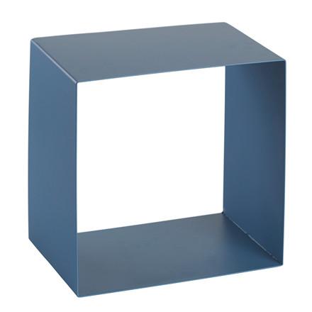 SHAPE IT metalbogkasse blå/grå 29 x 29 x 18 cm