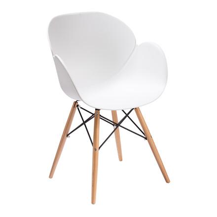 EDGE spisebordsstol hvid/natur