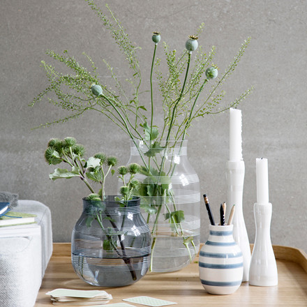 KÄHLER Omaggio vase H 28 cm klar