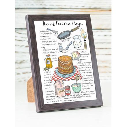 "MOUSE AND PEN ILLUSTRATION ""Pancakes"" kort inkl. kuvert"