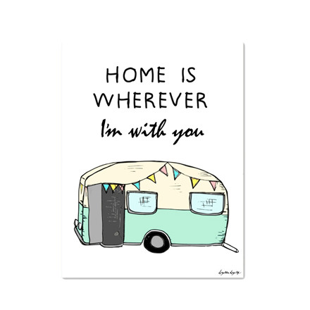 "MOUSE AND PEN ILLUSTRATION #Home is whereever Im with you"" A4"