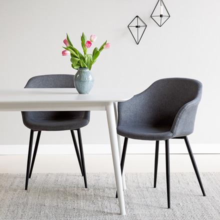 SEVA spisebord 160x90 cm hvid
