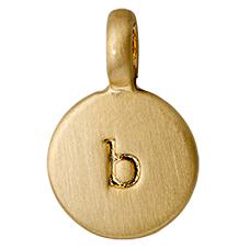 """PILGRIM Pendants """"B"""" guld vedhæng"""