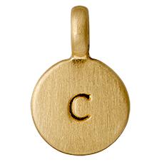 """PILGRIM Pendants """"C"""" guld vedhæng"""