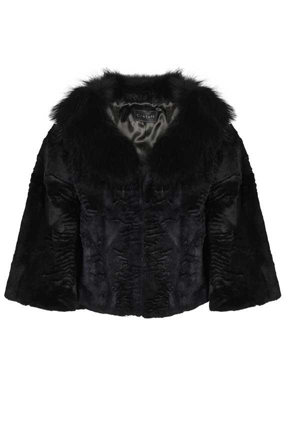 82baec5d0 Blå pels jakke