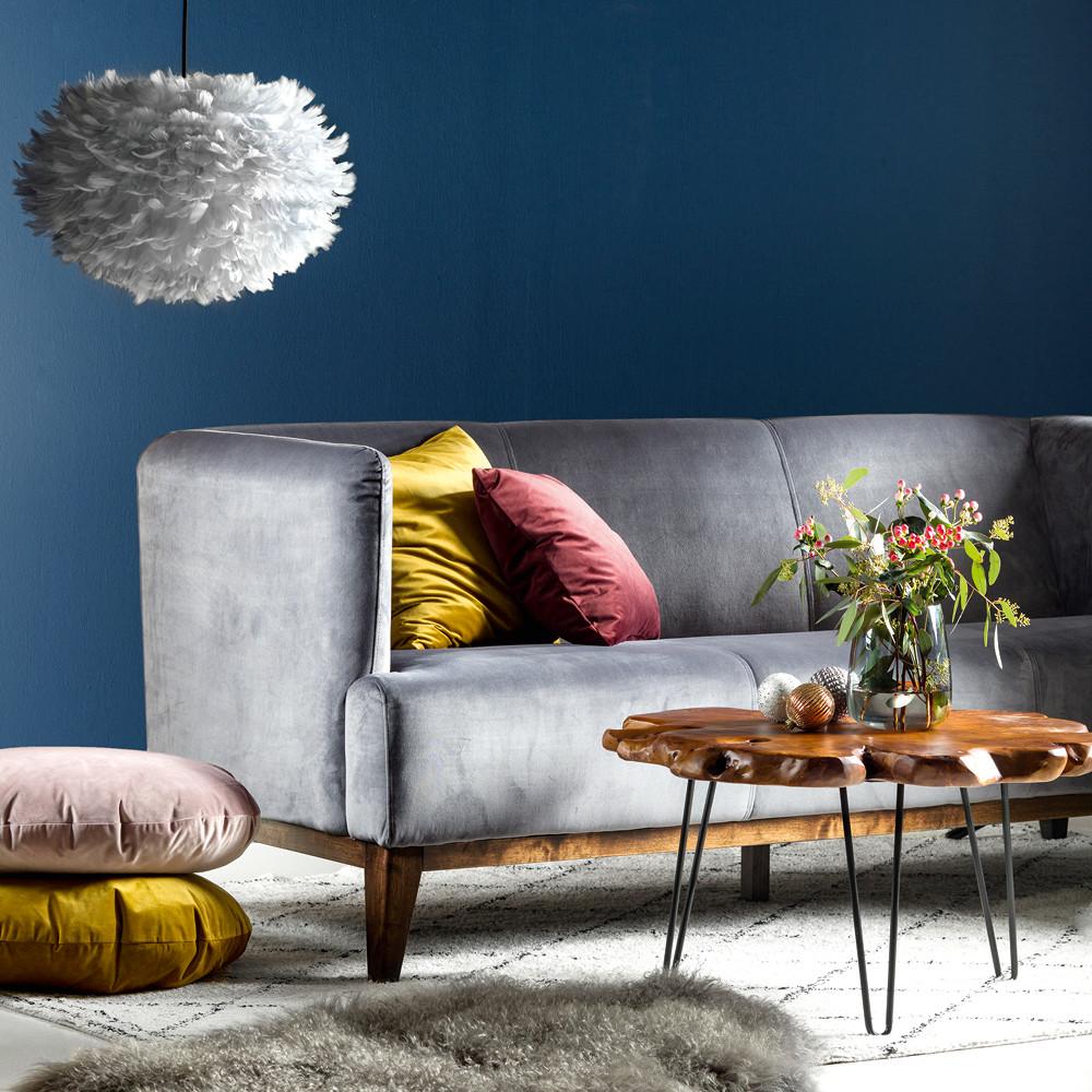 Super VIENNA velour sofa grå #CU-92