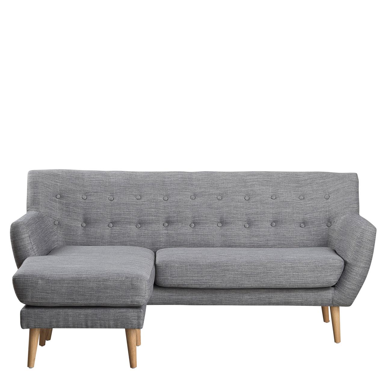 sofa chaiselong MIAMI chaiselong grå venstrevendt sofa chaiselong