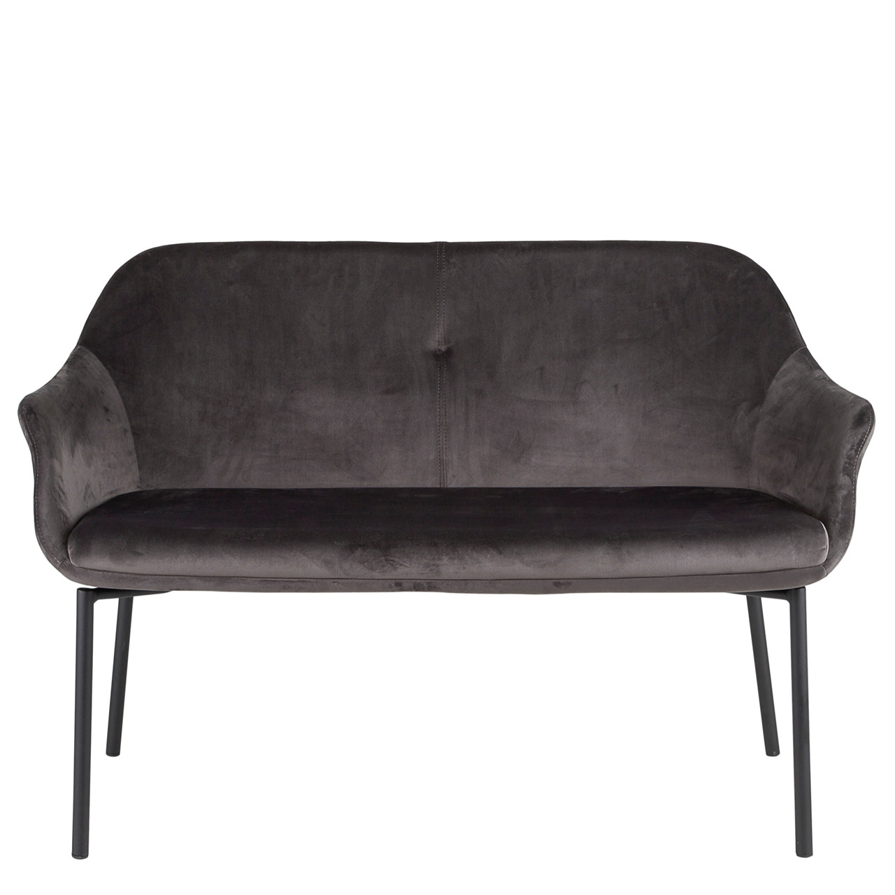sofa velour 2 pers NEW AGE 2 pers. sofa grå velour sofa velour 2 pers