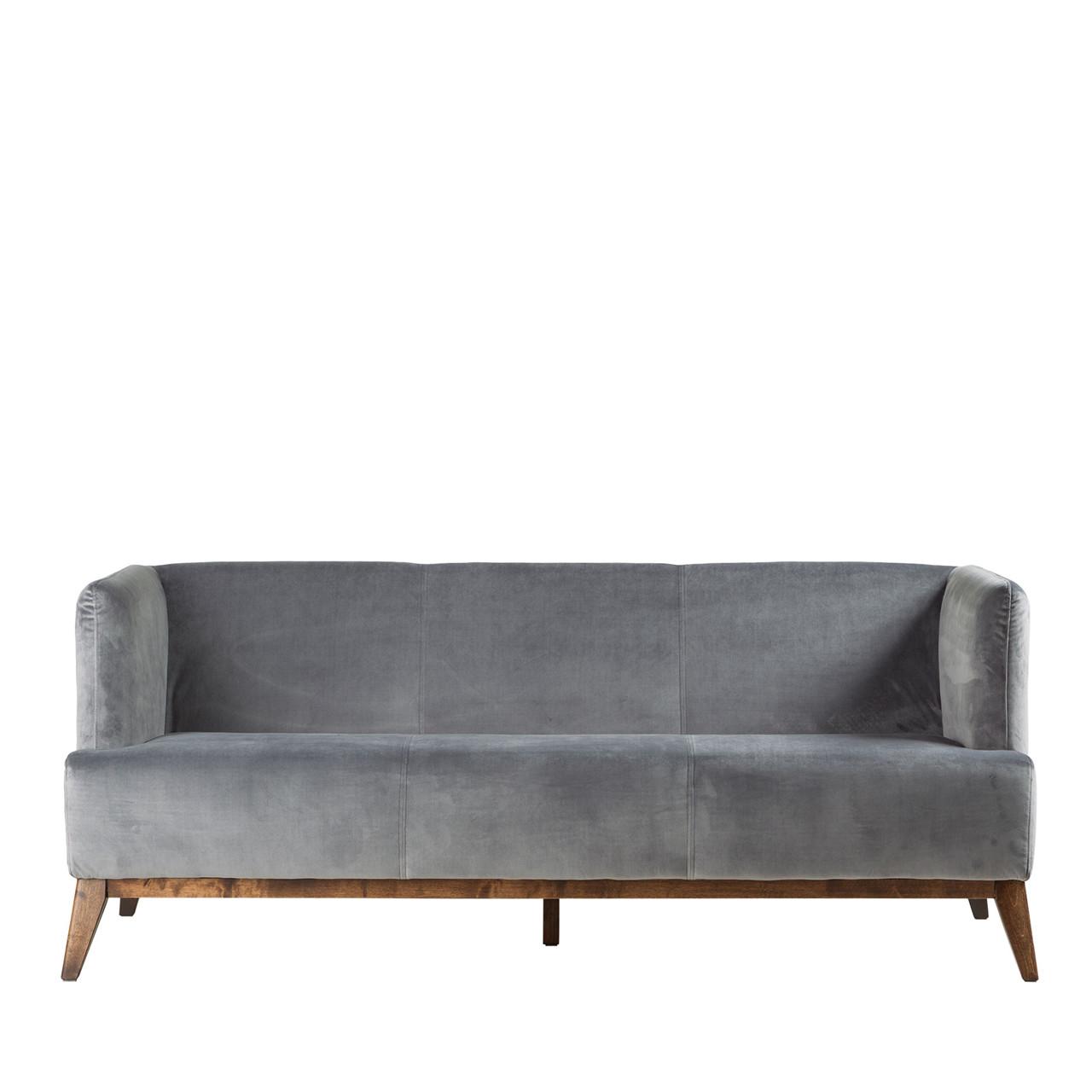 Super VIENNA velour sofa grå #LK-97