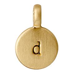 """PILGRIM Pendants """"D"""" guld vedhæng"""