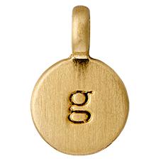 """PILGRIM Pendants """"G"""" guld vedhæng"""