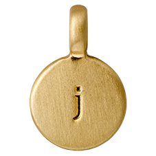"""PILGRIM Pendants """"J"""" guld vedhæng"""