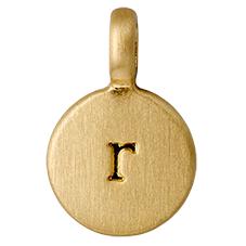 """PILGRIM Pendants """"R"""" guld vedhæng"""