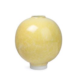 KÄHLER Unico vase stor okkergul 17 cm