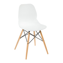GIM spisebordsstol hvid/natur
