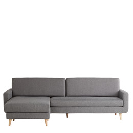 FLORIDA XL chaiselong sofa grå