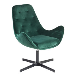 ROYAL lounge velour stol grøn