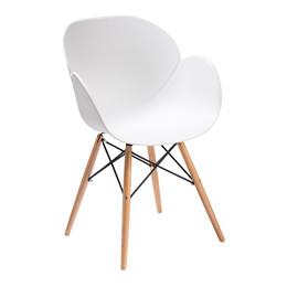 EDGE spisebordstol hvid/natur