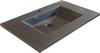LAVA badvask i sort mat marmor - 122 cm