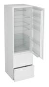 Høyskap til integrert kjøleskap, hengslet dør og 2 skuffer