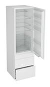 Høyskap til integrert kjøleskap, hengslet dør og 3 skuffer