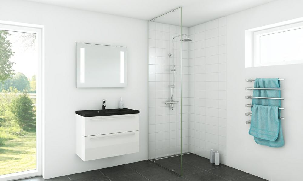 pudsede vægge i badeværelse Badeværelse inspiration   Find inspiration til bad   nettoline.dk pudsede vægge i badeværelse