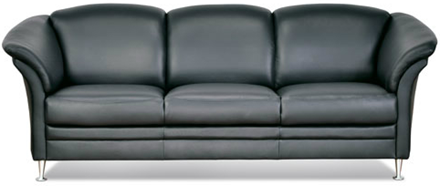 Aston sofasæt 3+2 pers. - sort læder