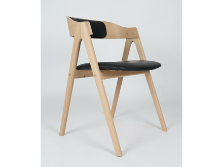 Mette spisebordsstol m. polstret ryg - tekstil