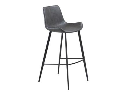 Hype barstol - Vintage grå læderlook