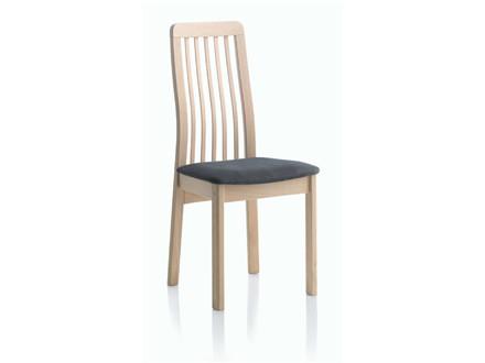 Line spisebordsstol m. træ ryg - læder
