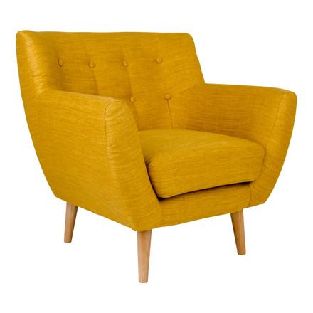 Monte lænestol - karry sæde - egetræs stel