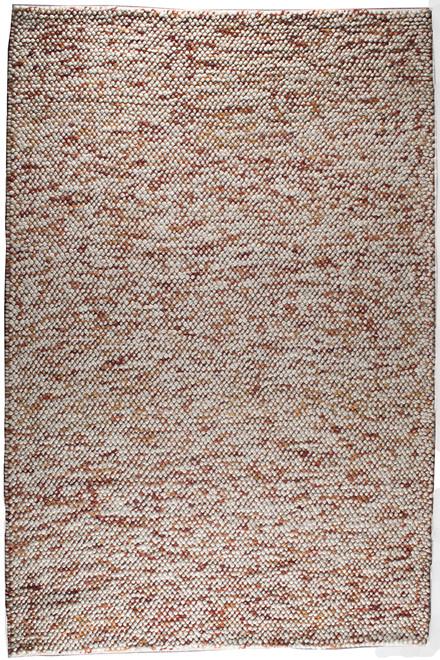 Oxford beige-rust tæppe