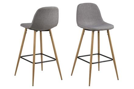 Wilma barstol - lysegrå