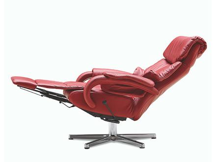 Himolla 7217 Cosyform Tobi lænestol med indbygget skammel - medium